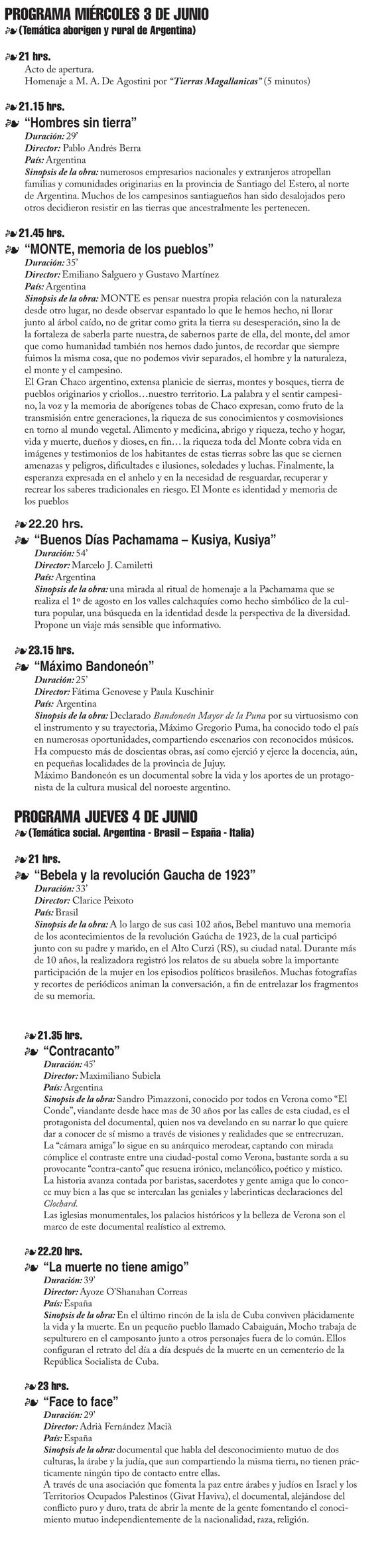 programa documentales ETNOGRAFICOS 2009.indd